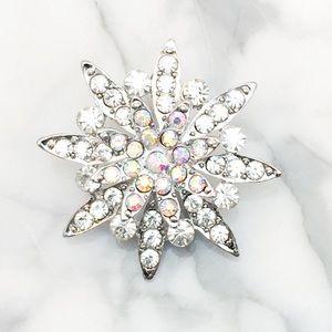 Jewelry - AB Crystal Silver Brooch